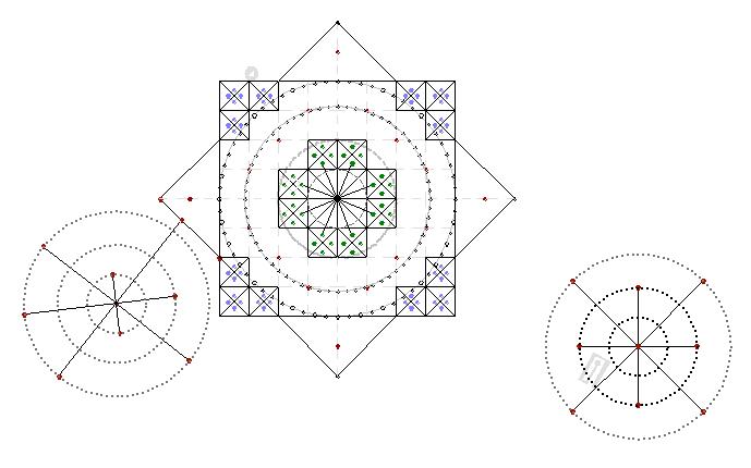 Чертеж геоглифа «Эстрелла»